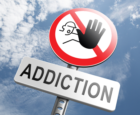 pain killer: stop addiction drug and alcohol prevention rahabilitation warning sign pain killer or tranquilizer addict Stock Photo