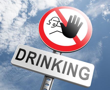 stoppen met het drinken van alcohol geen alcoholisme of dronken rijden verslaafde alcoholische revalidatie, of revalidatie Stockfoto