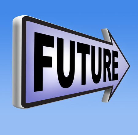 predictions: unfolding near future fortune telling and science fiction predictions Stock Photo