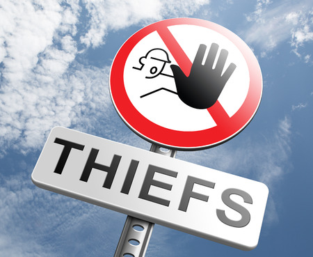 theft prevention: catch thiefs stop theft no robbery or pick pocket thief arrest by police investigation or neighborhood watch prevention