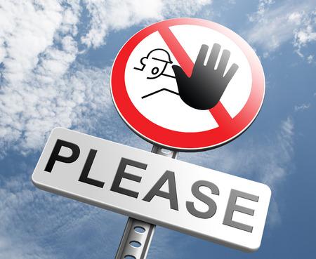 more: please stop no more enough Stock Photo