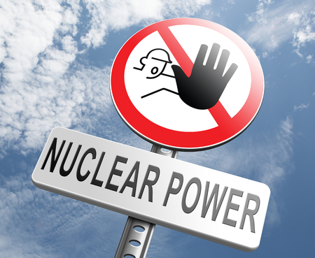 nuclear power: no nuclear power stop radio activity radio active waste from nuclear power plant danger of radiation and risk of contamination by gamma radiation