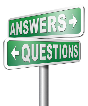 question and answer: question answer ask the right questions and get an answers help or support desk solving problems and finding solutions Stock Photo