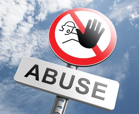 maltrato infantil: detener el abuso infantil o abuso de poder y la violencia se�al de advertencia de la prevenci�n dom�stica