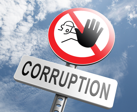 politics: corruption paying bribery political gouvernment or police stop corrupt politicians