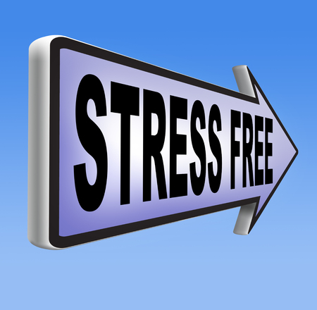 stress free: spa wellness and relaxation treatment in a stress free zone or area Stock Photo