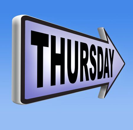 thursday: thursday sign event calendar