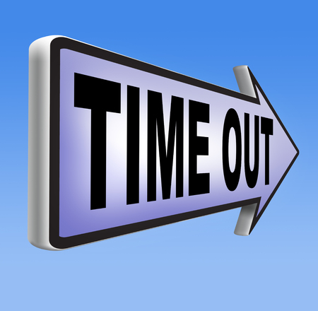 time out take a break from stress and work leisure time off relaxation taking a Holliday Stock Photo