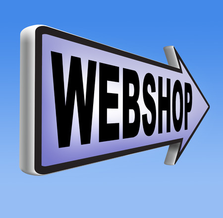 webshop: web shop online shopping  for internet webshop or store Stock Photo