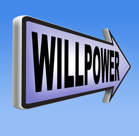 mind set: Will power self motivation bite the bullet and set your mind to it Stock Photo