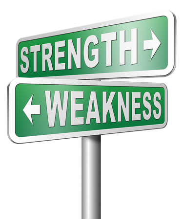 overcome: strength versus weakness overcome problems by being strong and not weak accept the challenge to success