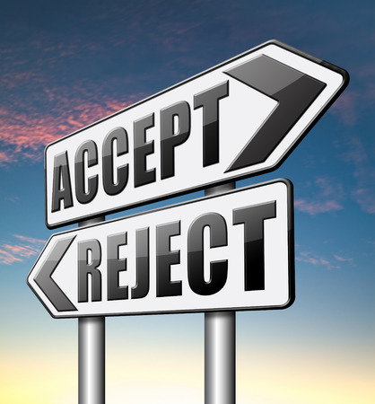 approvement: accept reject approve or decline Stock Photo