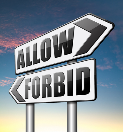 permission granted: allow or forbid asking permission according to regulations granted or declined