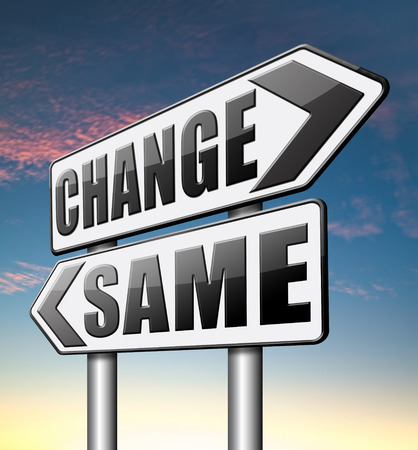 bad habits: cambiar misma repetir el viejo o innovar e ir para el progreso en su carrera de vida o relación de ruptura con los malos hábitos