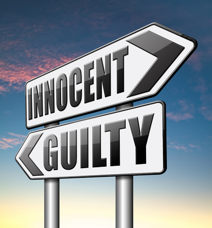 innocent: innocent or guilty presumption of innocence until proven guilt as charged in a fair trial for crime suspect