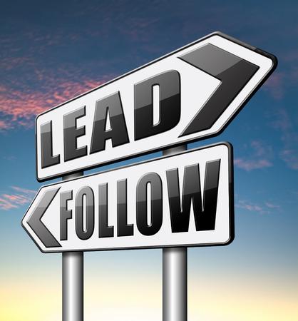 follow the leader: lead follow na de natuurlijke leider, de belangrijkste in opdracht door volgelingen in het bedrijfsleven