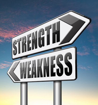 power failure: strength versus weakness overcome problems by being strong and not weak accept the challenge to success