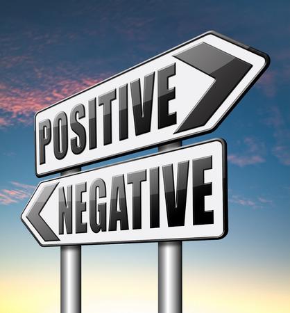 positivism: positivo o negativo pensando visi�n pesimista u optimista