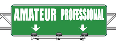 recruit: professional amateur craftsman expert novice or beginner skilled specialist or recruit and rookie road sign arrow craftsmanship