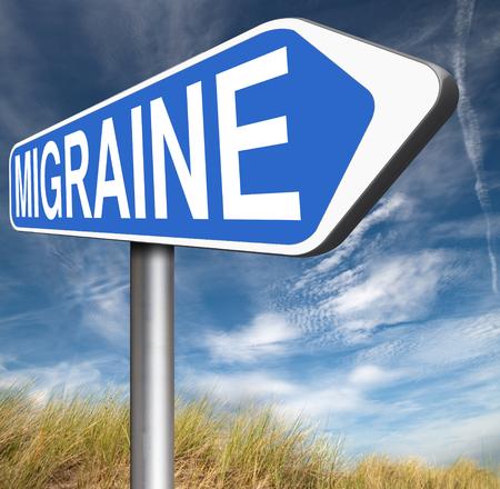 headache: migraine acute or chronic headache need for painkiller or prevent pain