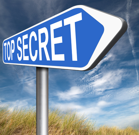 private property: top secret confidential and classified information private property or information sign