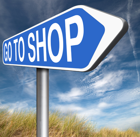 webshop: Shop now sign go to the online webshop , internet web shopping Stock Photo