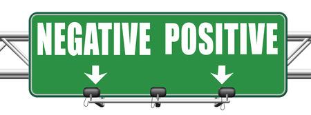 positivismo: pensamiento positivo o pensar positividad o negatividad negativa mirada optimista o pesimista al lado soleado de la vida actitud carretera signo flecha