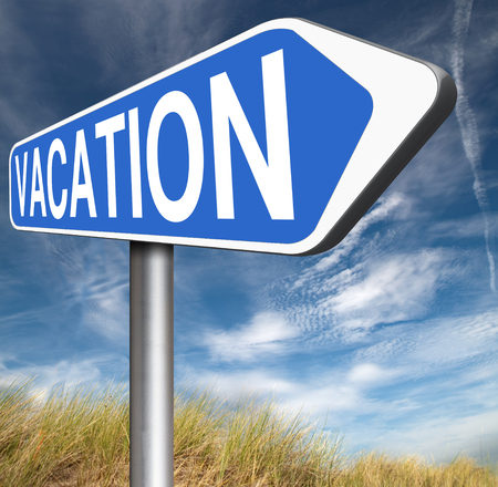 vacation destination: vacation destination or a holiday enjoy life and travel the world book a summer or winter dream vacation school is out road sign arrow