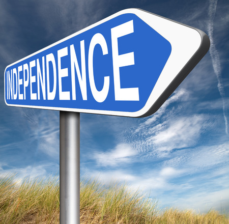 sufficient: independence road sign independent life, live self sufficient