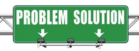 problem solution: problem solution searching solutions by solving problems road sign