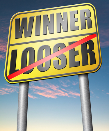 looser: winner looser win or loose the sports game or competition start winning and stop being a looser change your luck