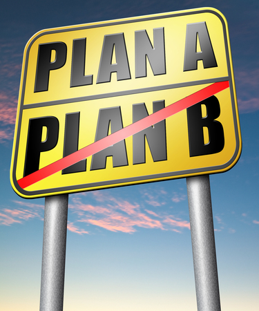 plan b: plan a plan b backup plan or alternative option Stock Photo