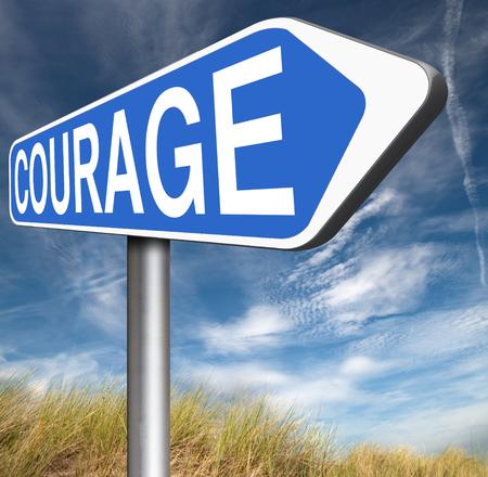 firmeza: coraje no hay miedos y valentía la capacidad de enfrentar el dolor miedo incertidumbre peligro y la intimidación valiente camino valiente muestra de la flecha