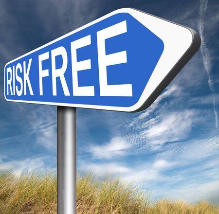 safe investments: rischio non libera rischia sicuro investimento migliore prodotto soldi di alta qualit� garanzia di rimborso