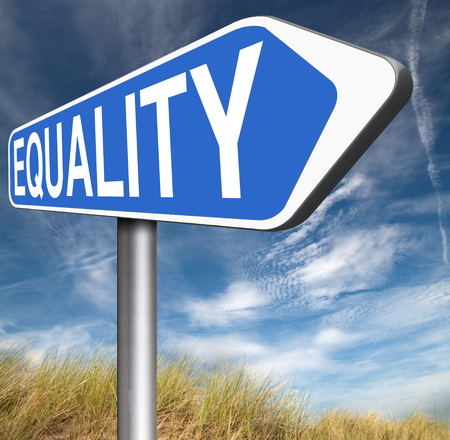 equal rights: equality no difference equal rights and opportunities no discrimination Stock Photo