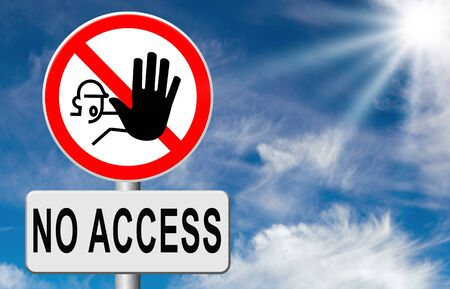 access restricted: no access stop password required no entrance denied authorized personnel only restricted area Stock Photo