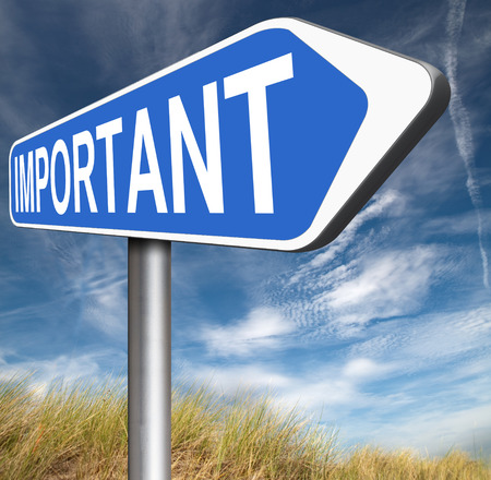 pay attention: very important information crucial message essential and critical info pay attention high priority Stock Photo