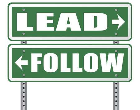 follow the leader: follow or lead following or catch up the natural leader,leaders or followers in business chief in command or leadership leading to victory Stockfoto