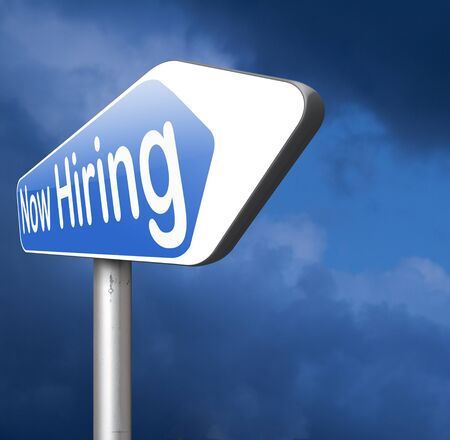 job opening: now hiring, job opening and vacancy search and find jobs Stock Photo