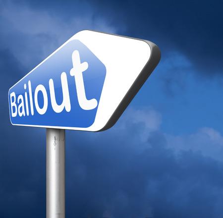 crisis economica: rescate o quiebra crisis económica y la recesión financiera Foto de archivo