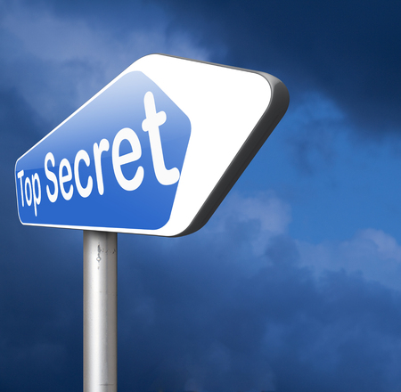 private property: top secret confidential and classified info private property or information sign