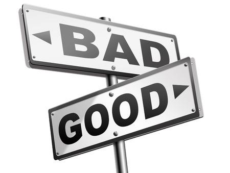 valores morales: buena mala un dilema moral sobre los valores y principios de �tica bien o mal malvados o honestas camino legal o ilegal signo de flecha