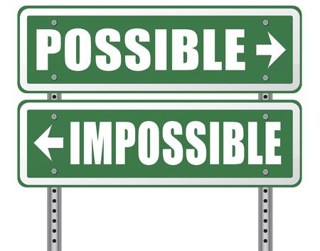 realiseren: kan onmogelijk laten gebeuren vastberadenheid en wilskracht om je dromen doorzettingsvermogen weg teken pijl te realiseren