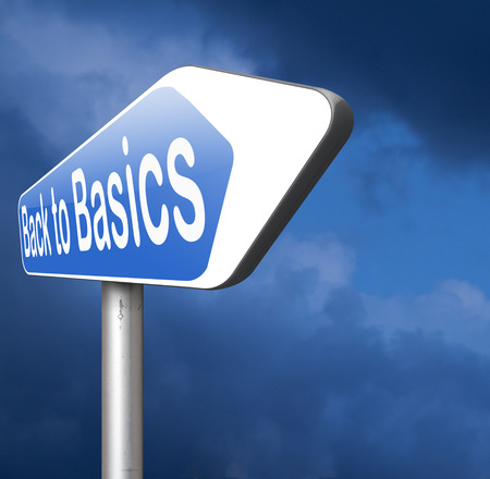 it: Back to basics to the beginning keep it simple and basic primitive simplicity Stock Photo