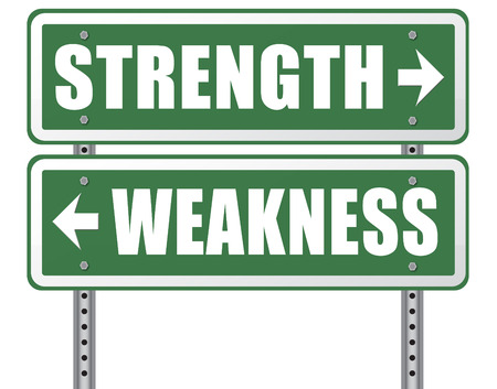 overcome a challenge: strength or weakness being strong or weak overcome problems accept the challenge to success