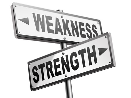overcome: strength or weakness being strong or weak overcome problems accept the challenge to success