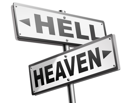 heaven and hell: heaven or hell devils and angels salvation from evil save your soul and spirit search and find Jesus and God