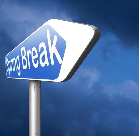spring break: spring break holiday or school vacation