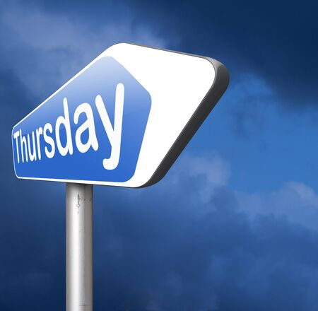 thursday: thursday week next or following day schedule concept for appointment or event in agenda