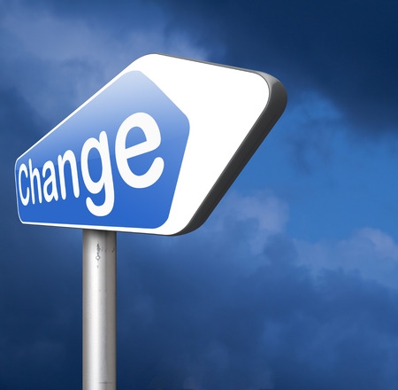 change direction: Change your life and the world make a difference now take another direction  and opportunity Stock Photo